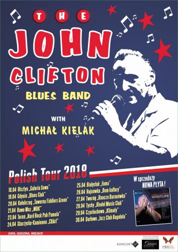 John Clifton Blues Band - Polish Tour 2018
